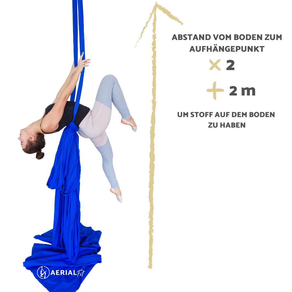 Wie Viel Tuch Aerial Yogatuch Brauche Ich